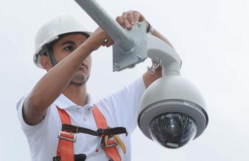 Câmeras de monitoramento em empresas