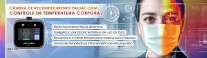 Terminal de Reconhecimento Facial com Controle de Temperatura - BIA-TY3RFT